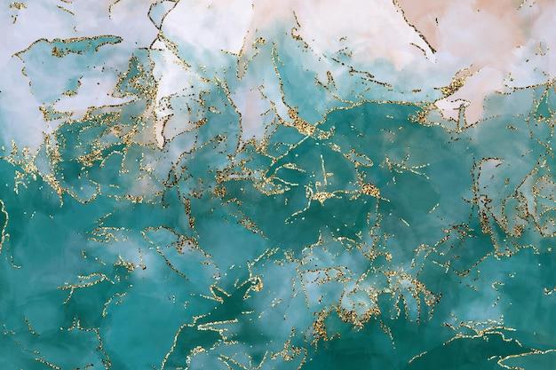 Fond de paillettes turquoise