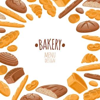 Fond de pain. produits de boulangerie.