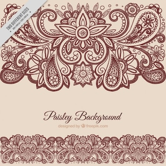 Fond paisley floral