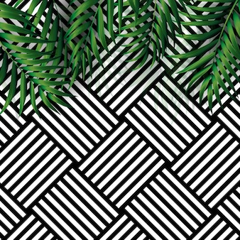 Fond de palmier naturel tropical. illustration