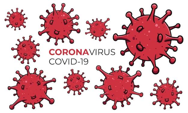 Fond de pandémie de la maladie du virus corona covid-19