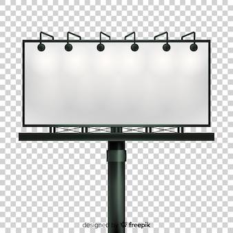 Fond de panneau d'affichage réaliste