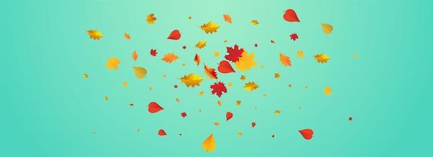 Fond panoramique bleu floral vert. conception de plantes de papier peint. carte de feuilles de forêt jaune.