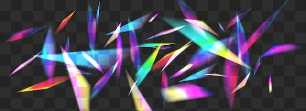 Fond panoramique transparent de vecteur de kaléidoscope de lumière. holo bokeh carnaval fond d'écran. brochure abstraite de fusée brillante. bannière de réfraction de superposition holographique.