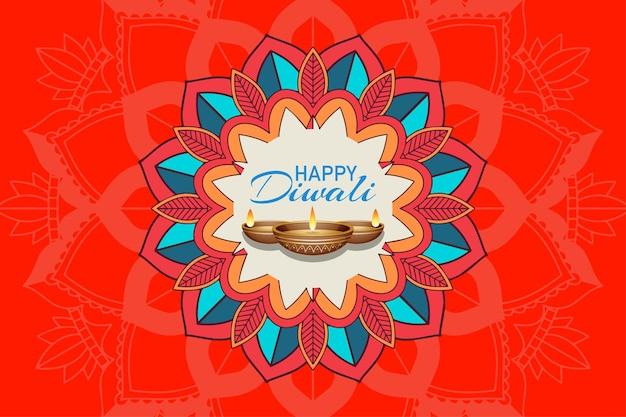 Fond avec pantern de mandala pour le joyeux festival de diwali