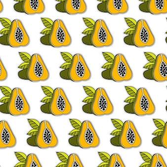Fond de papaye