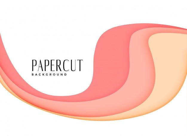 Fond papercut stratifié rose élégant