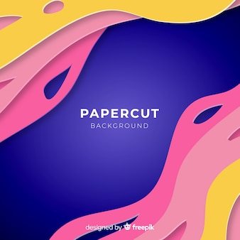 Fond papercut