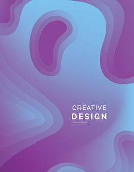 Fond de papier 3d abstrait couleur