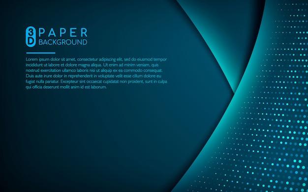 Fond de papier 3d bleu foncé avec des paillettes