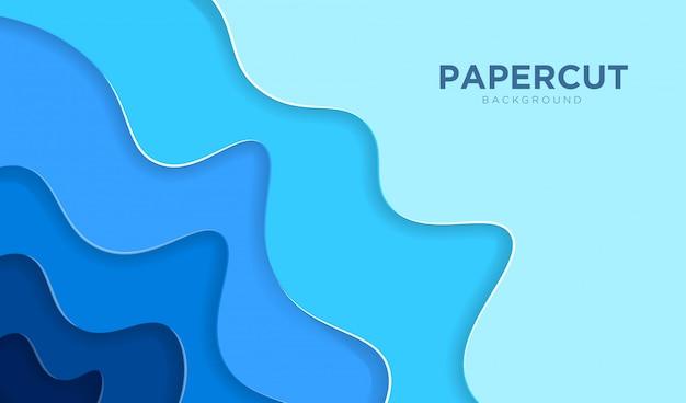 Fond de papier abstrait 3d coupé.