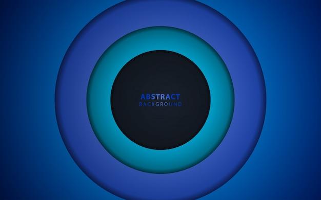 Fond de papier abstrait bleu foncé se chevauchent