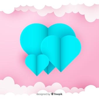 Fond de papier art coeur