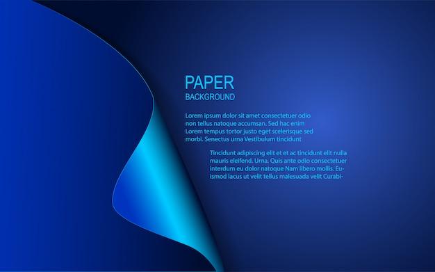 Fond de papier bleu abstrait
