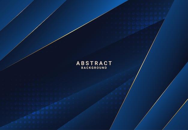 Fond de papier bleu de luxe foncé moderne avec texture triangulaire en couches 3d pour site web, conception de carte de visite. illustration vectorielle