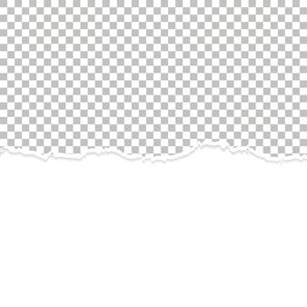 Fond de papier déchiré blanc