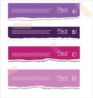 Fond de papier déchiré avec un espace pour le texte