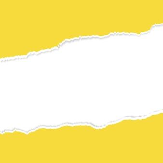 Fond de papier déchiré jaune blanc
