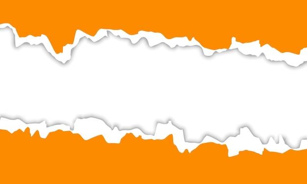 Fond de papier déchiré jaune. conception pour votre entreprise.