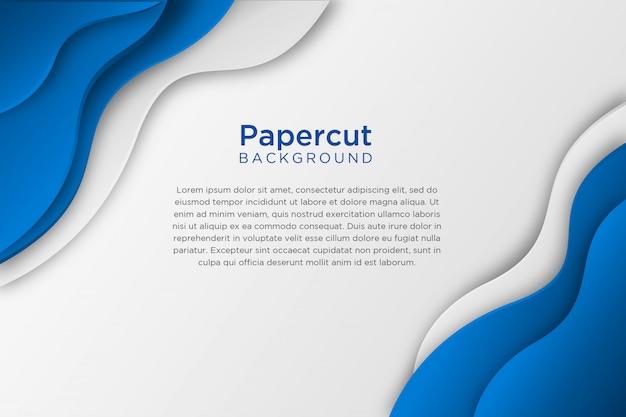 Fond de papier ondulé abstrait blanc bleu