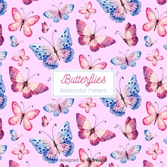 Fond papillon aquarelle