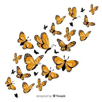 Fond de papillon réaliste