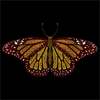 Fond de papillon de style d'impression mignon.