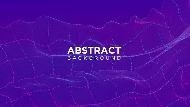 Fond de particules abstraites