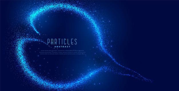 Fond de particules bleues numériques