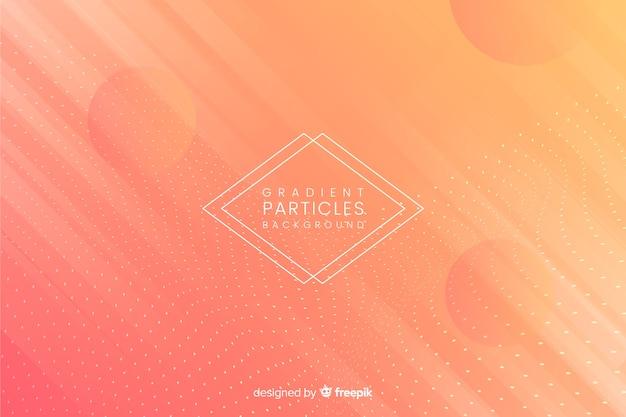 Fond de particules dégradées