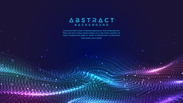 Fond de particules de flux de liquide abstraite dynamique.