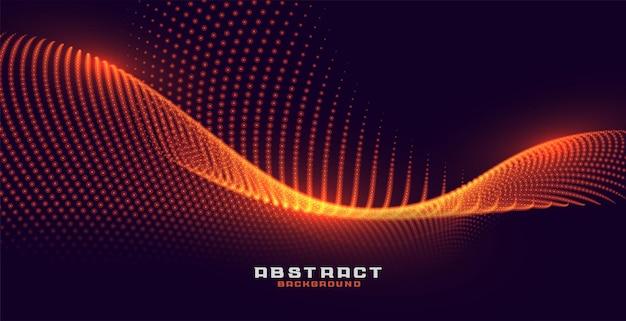 Fond de particules incandescentes avec effet de lumière dorée orange