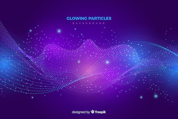 Fond de particules rougeoyantes