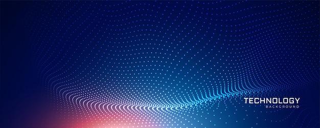 Fond de particules de technologie abstraite bleue