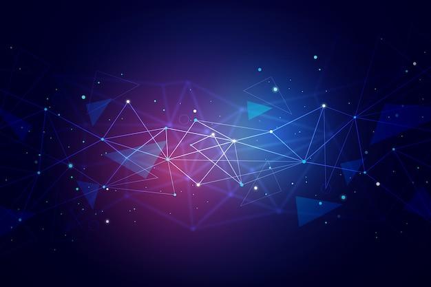 Fond de particules de technologie abstraite
