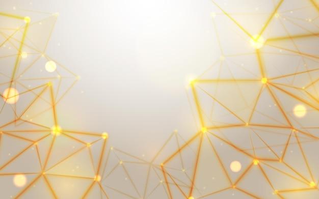 Fond de particules de technologie dorée