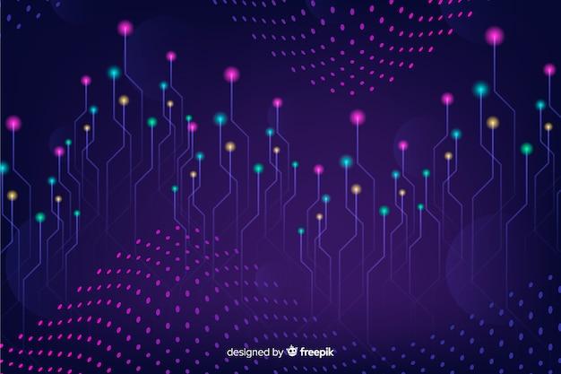 Fond de particules tombant gradient technologique