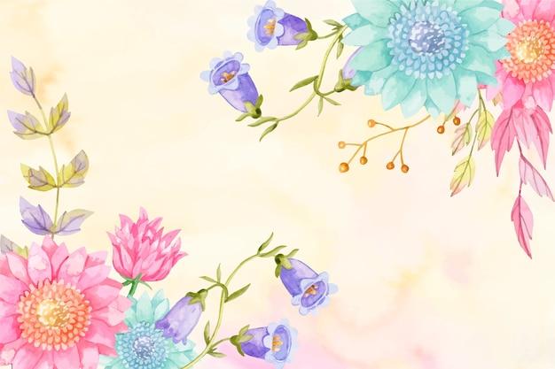 Fond pastel couleurs aquarelle fleurs