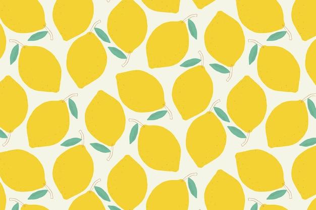 Fond pastel motif citron sans soudure