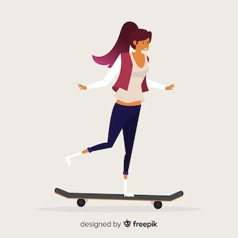 Fond de patineur
