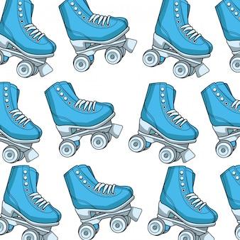Fond de patins à roulettes