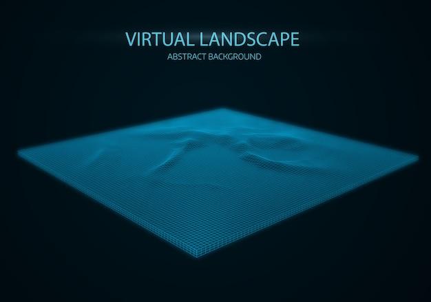 Fond de paysage abstrait vectoriel.