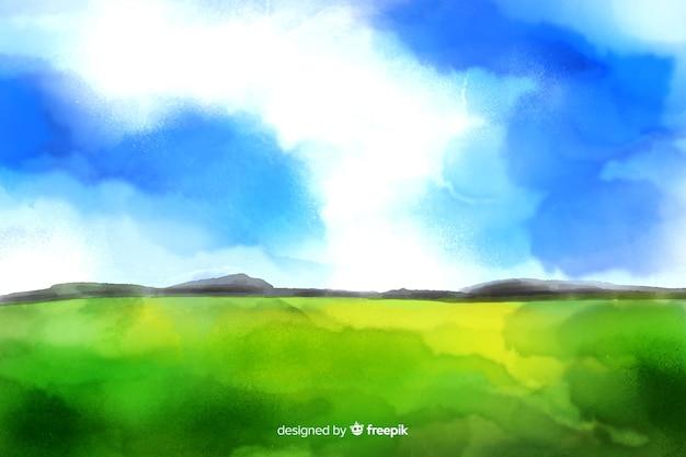 Fond de paysage aquarelle abstraite