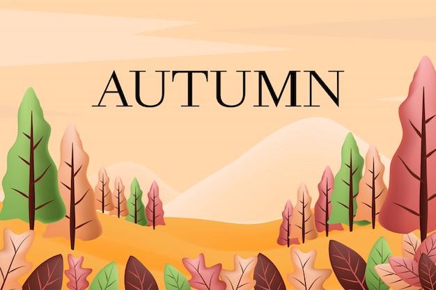 Fond de paysage d'automne