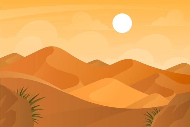 Fond avec paysage désertique