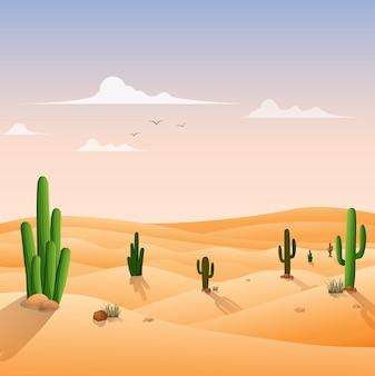 Fond de paysage désertique
