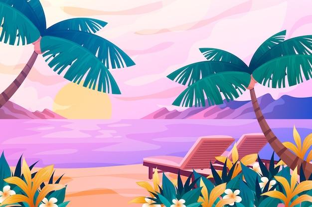 Fond de paysage d'été pour le thème du zoom