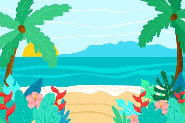 Fond de paysage d'été pour zoom