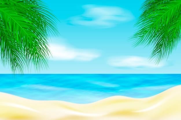 Fond de paysage d'été