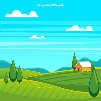 Fond de paysage ferme